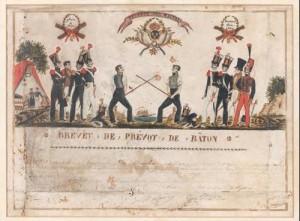 Brevet-de-prevot--1817_Bordeaux