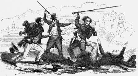 Gravure de Jules Noël, dans le journal L'Illustration en novembre 1845